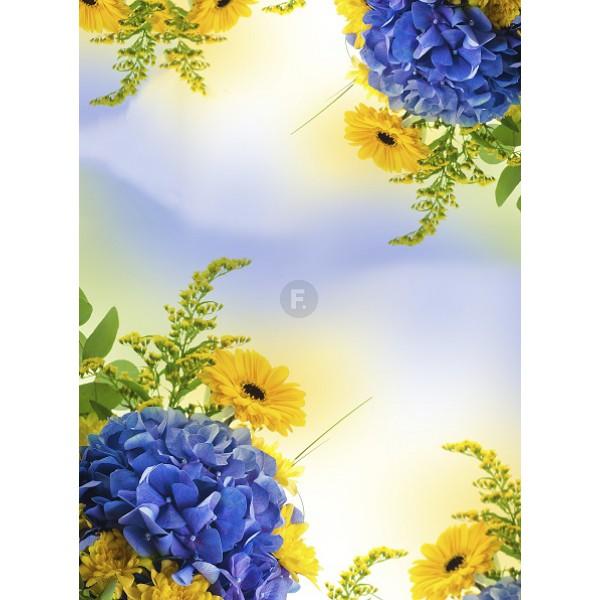 """Фотоскатерть """"Хризантемы"""" 145x145"""