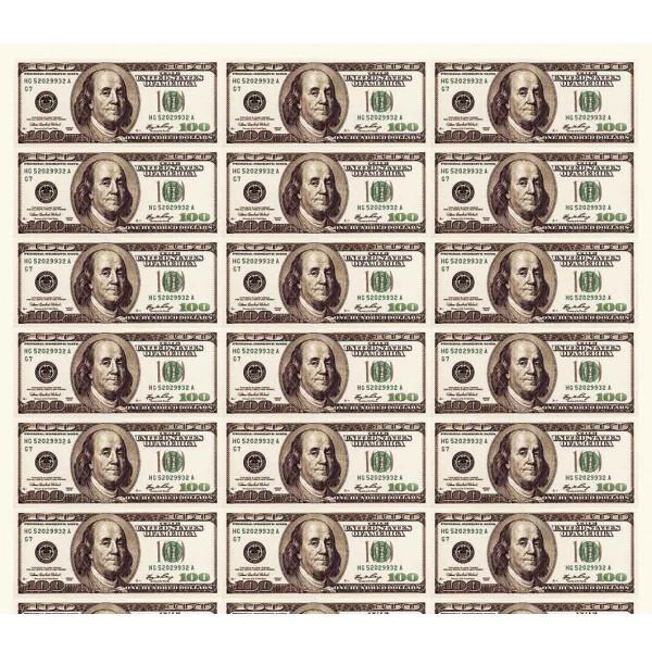 Доллары в листе