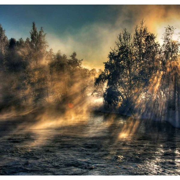 Лучи в зимнее утро