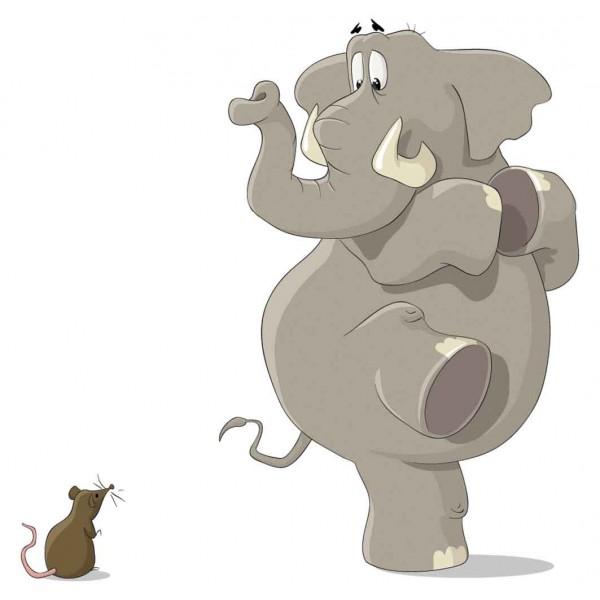 Слон и мышонок