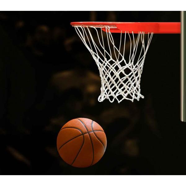Баскетбольный мяч и корзина