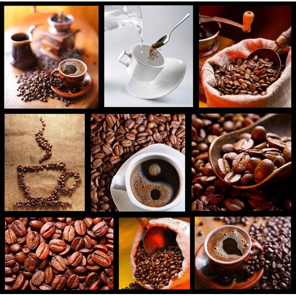 Коллаж из кофе