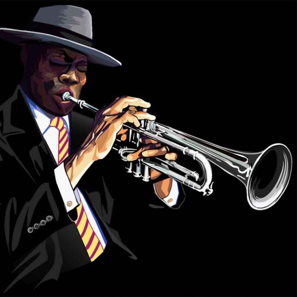 валики постер джазовый трубач этот момент